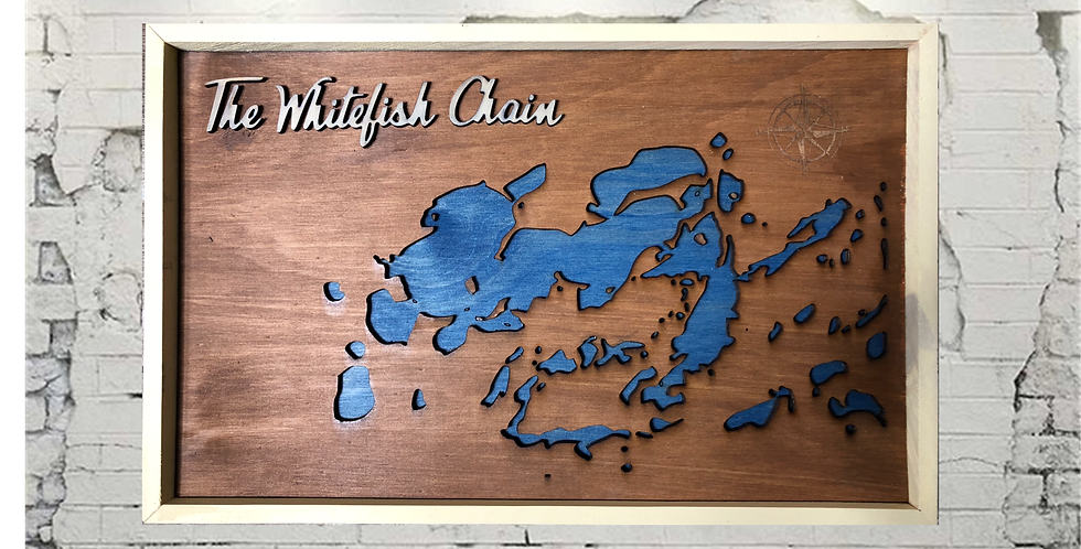 The Whitefish Chain topographic map