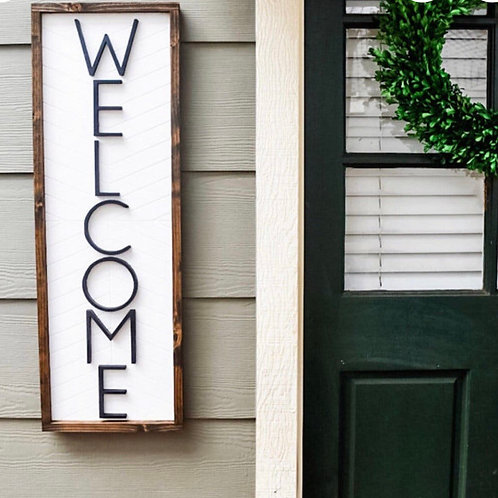 Modern Welcome Sign | Ready to Hang