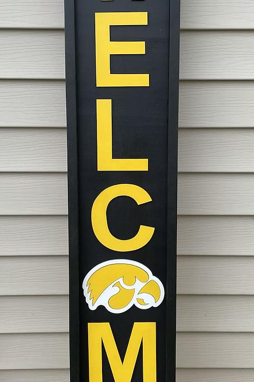Iowa Hawkeye Welcome Sign