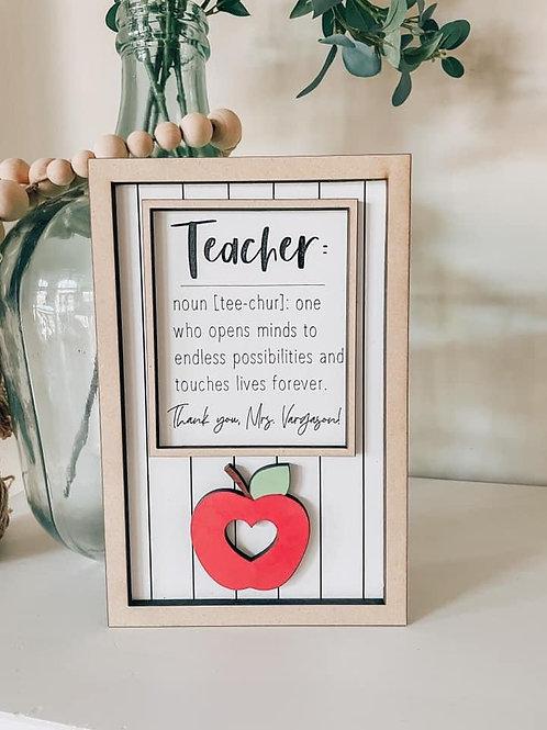 Teacher Appreciation Sign | Unique, personalized gift