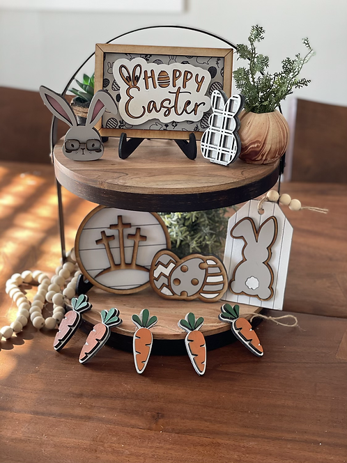 Tiered Tray Easter Decor | Set of 7