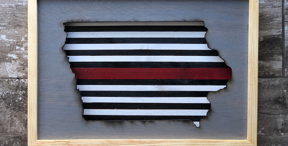 Red Line Reclaimed Wood Sign - Personalize for Free