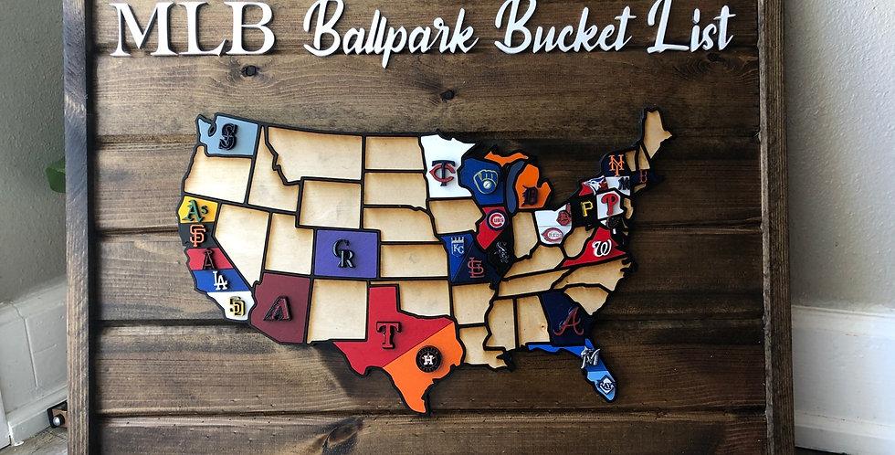 MLB Ballpark Bucket list Map