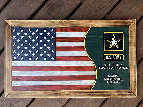 Army Flag | Personalized Wooden Army Flag