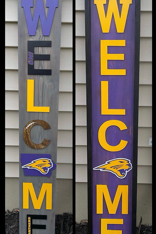 UNI Outdoor Welcome Sign