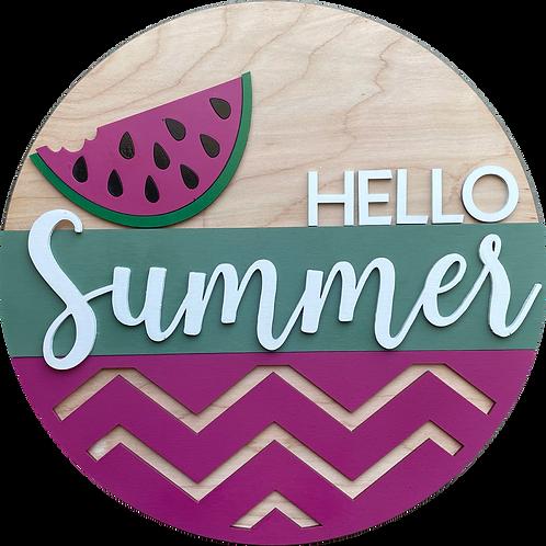 Hello Summer Door Hanger