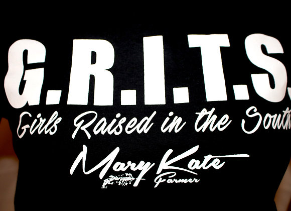 """""""Grits"""" Girls Raised in the South T-Shirt"""