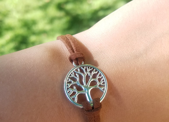 Tree of Life soft leather corded bracelet