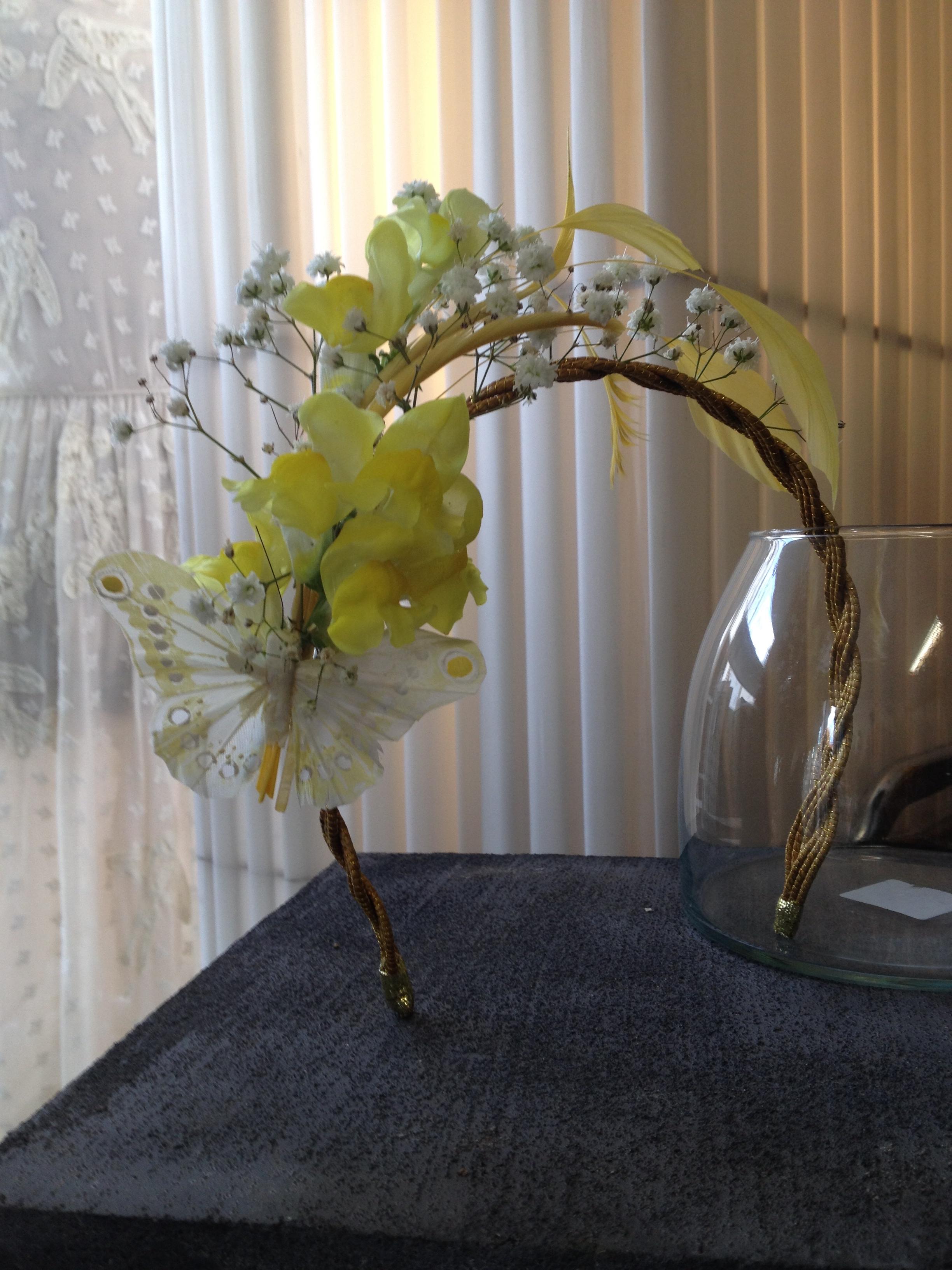 Création bijou de tête fleuri
