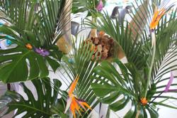 Ambiance tropicale pour un mariage jungle
