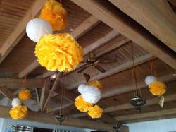 Décoration plafond mariage à l'hôtel Fleur de Sel