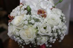 Bouquet de mariée _ hortensias, roses, lisianthus et limonium