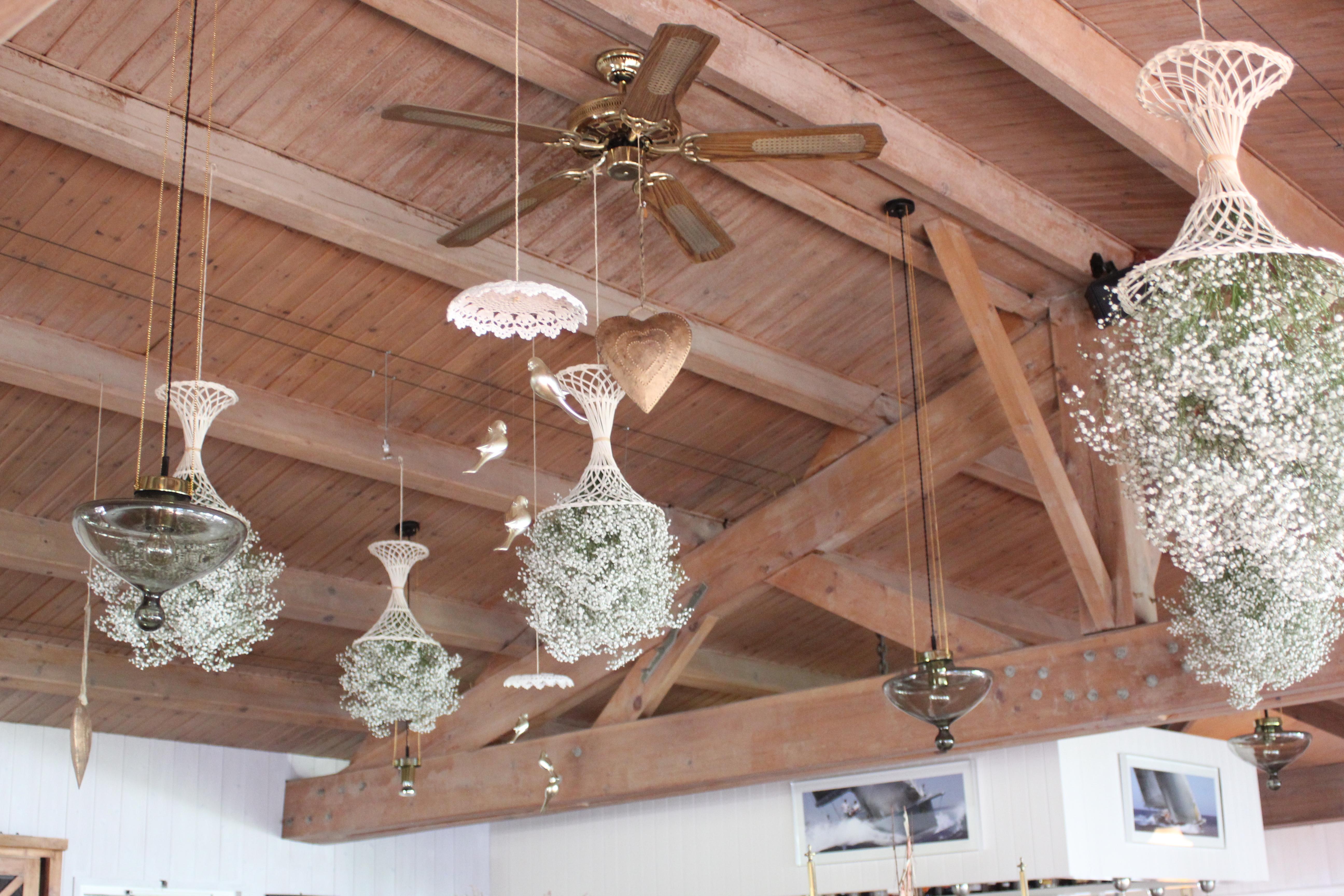 Décoration plafond pour un mariage à l'hôtel Fleur de Sel