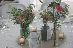 Centre de table champêtre à la Maison sur l'eau