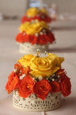 Petits gâteaux de fleurs orange