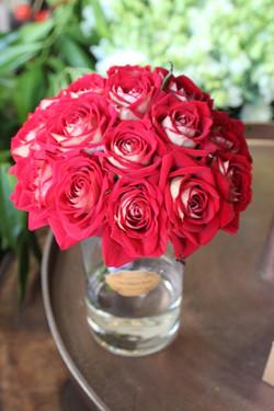 Bouquet de mariée roses rouges