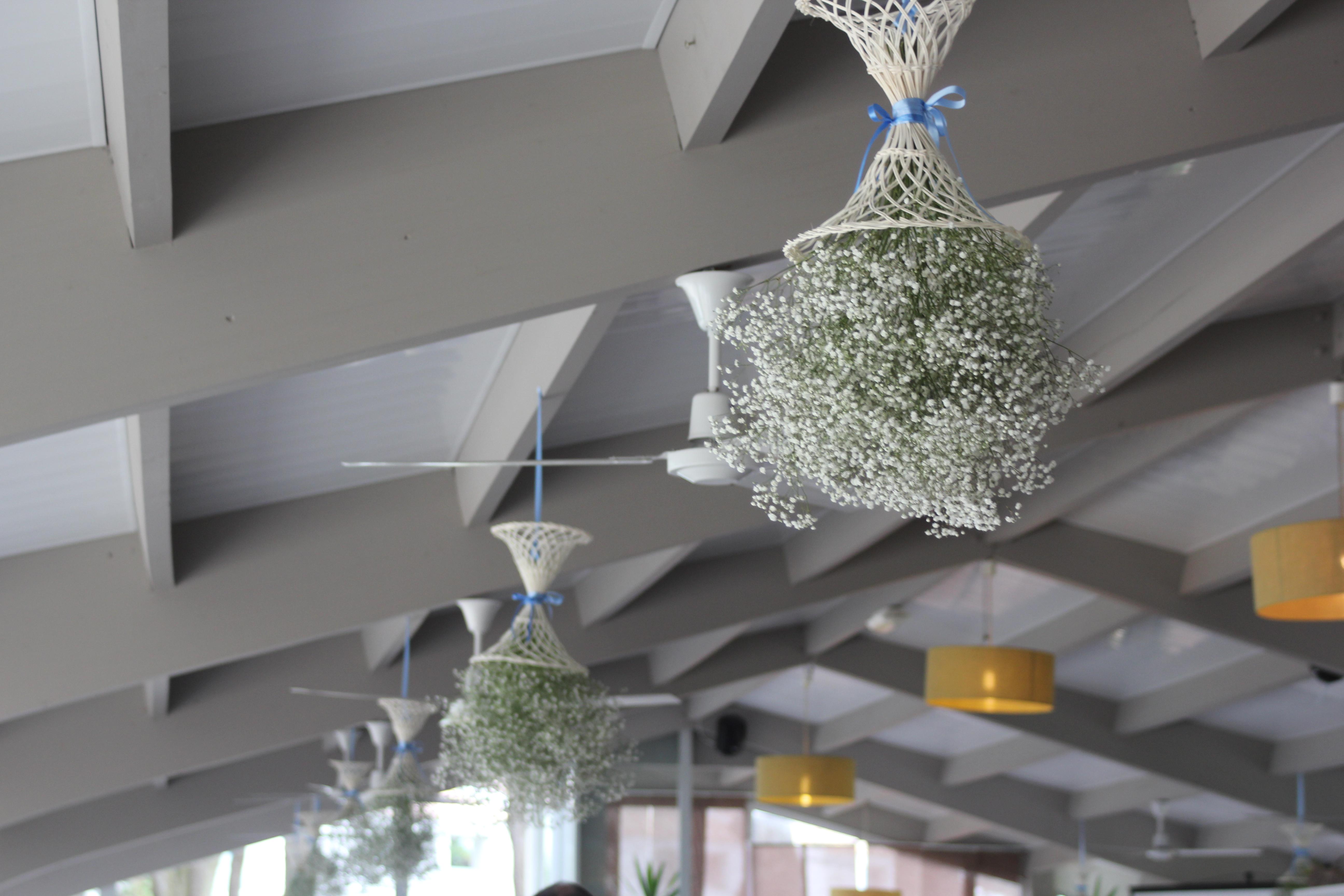 Décoration du plafond de la salle de réception de l'hôtel Punta Lara