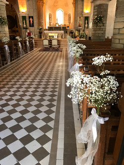 Gypsophile à l'église St Philbert