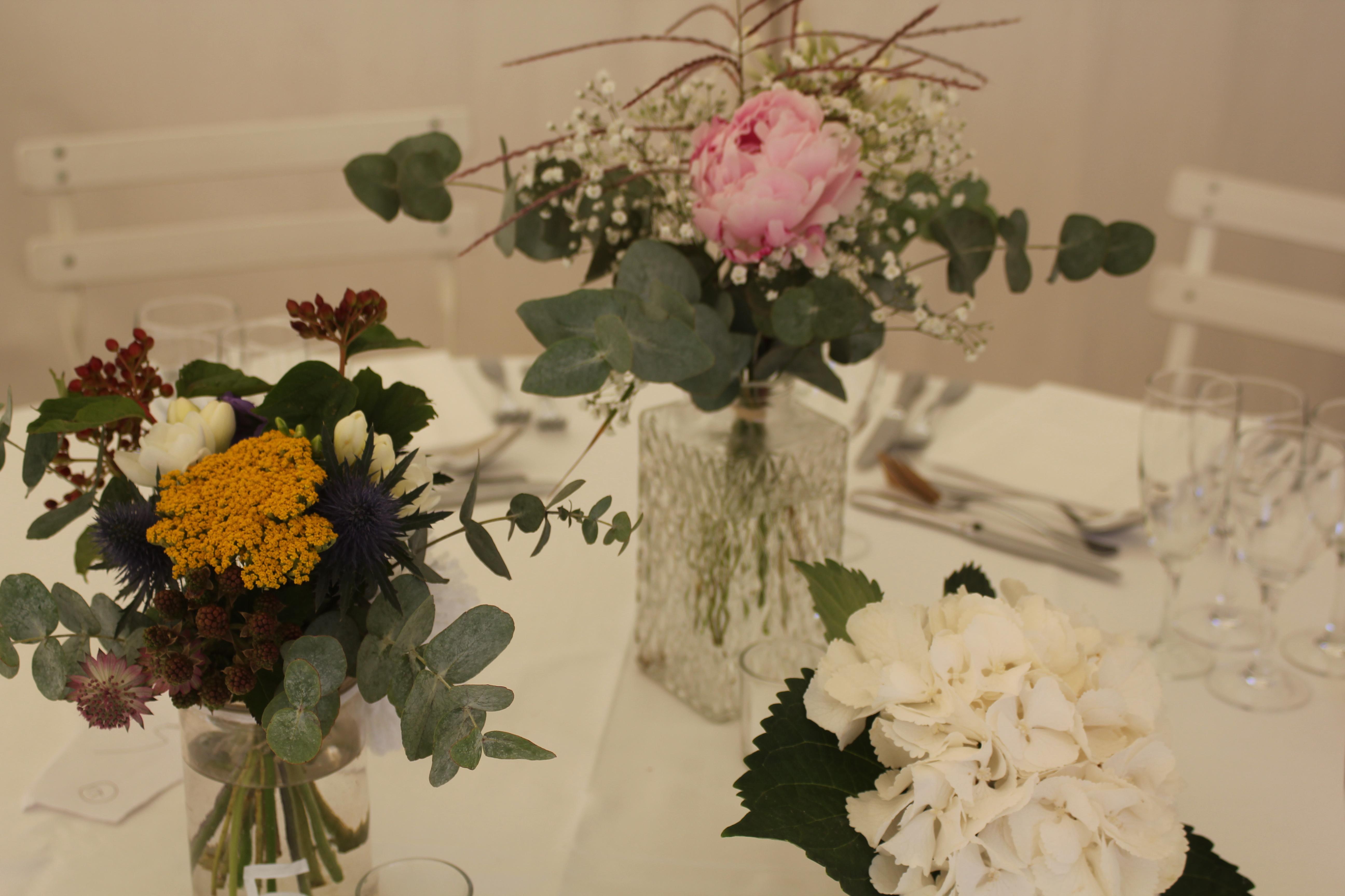 Centre de table champêtre esprit brocante