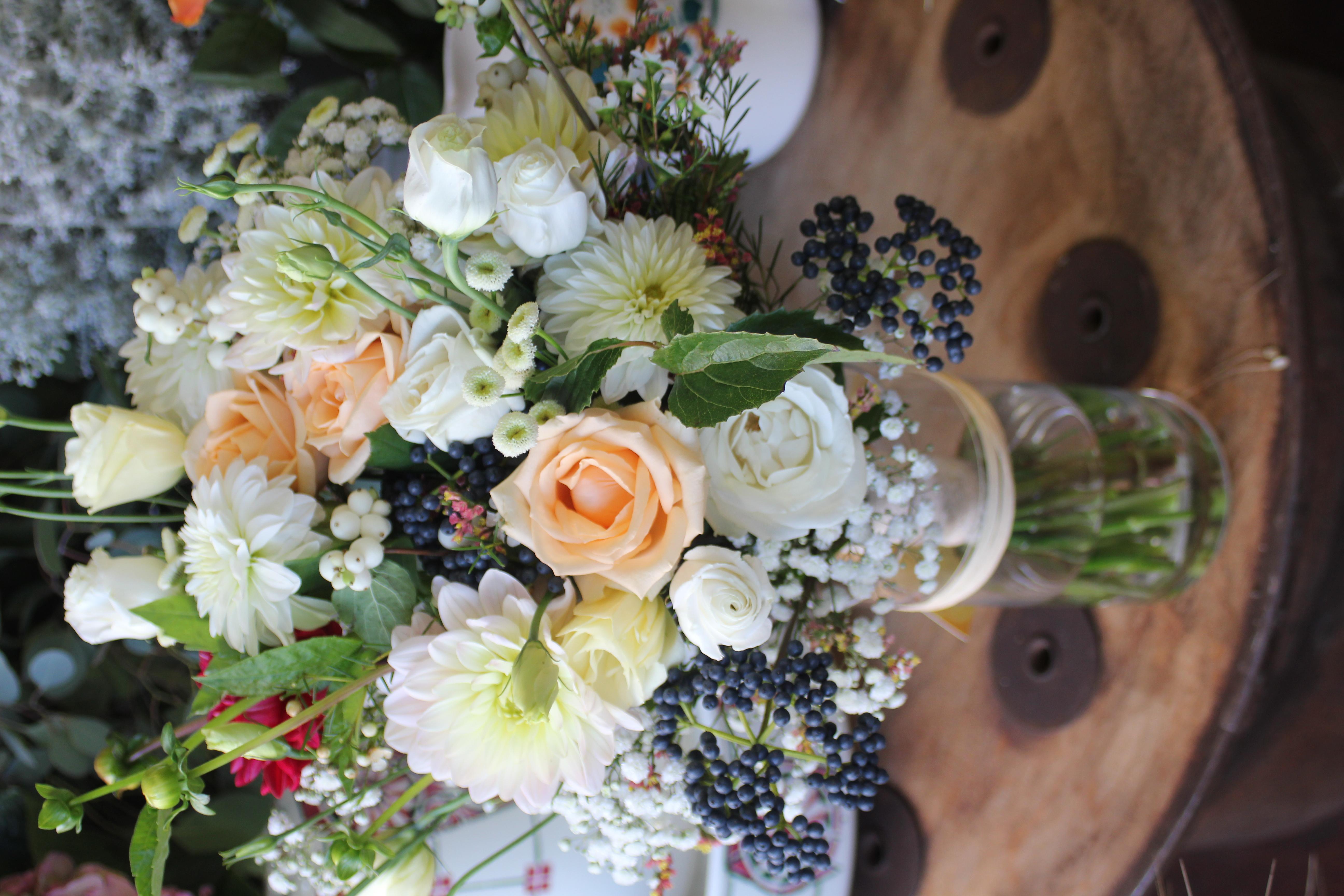Bouquets champêtres pour centre de table