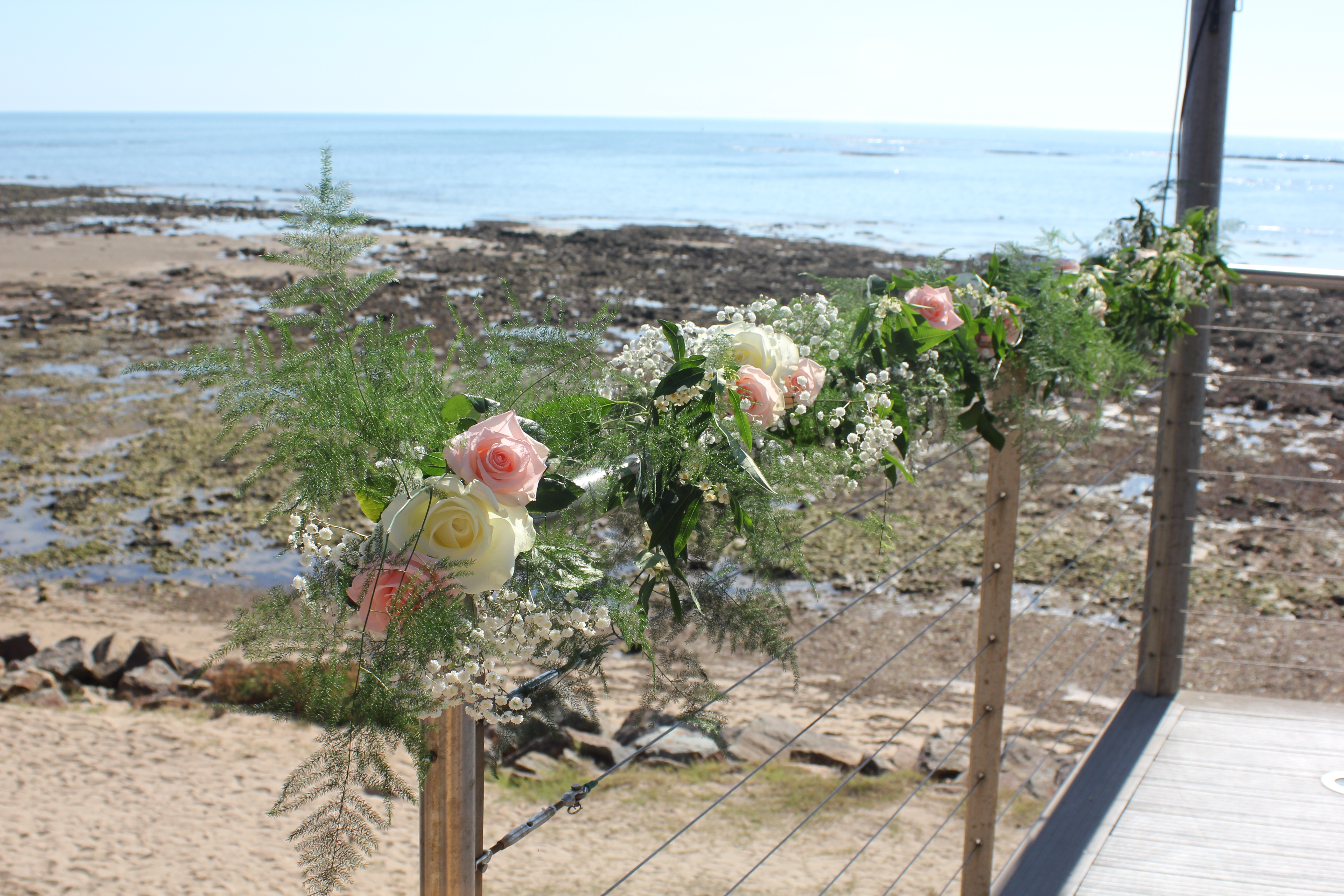 Décoration des barrières du ponton du Punta Lara