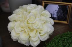 Bouquet de mariée blanc : technique du glamelia