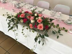 Devant de table des mariés