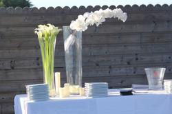 Décoration table de cocktail à La Maison sur l'Eau