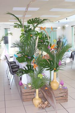 Jungle tropicale pour un mariage exotique