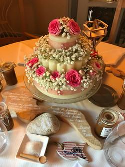 Gâteau de fleurs pour la table des enfants