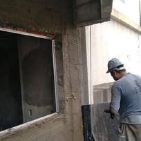 Chapisco externo na fachada