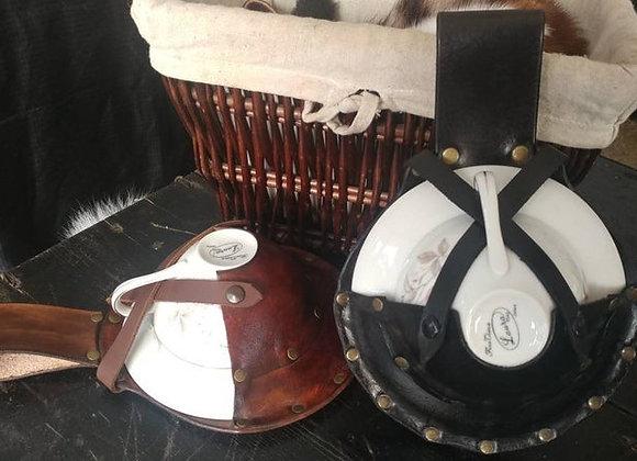 Leather Tea Set Carrier