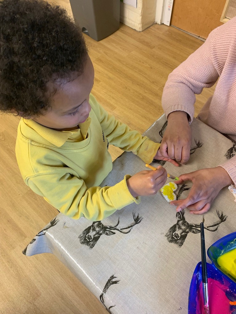 Self selection materials ensure our children can express their creativity.