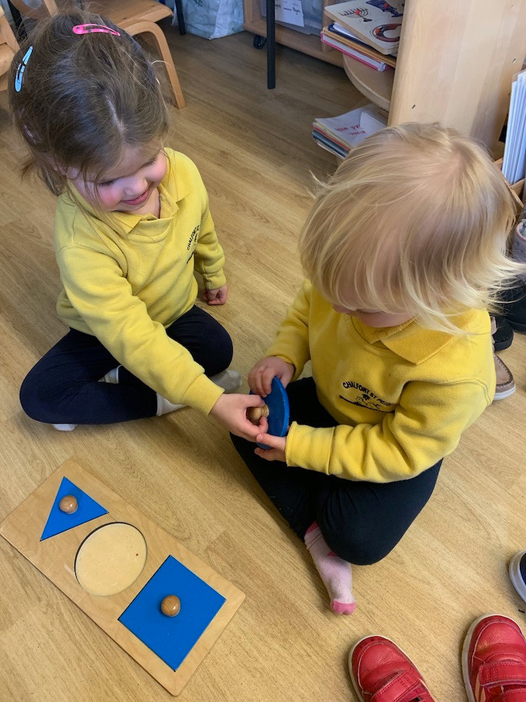 Basic shape boards, circle, square, triangle.