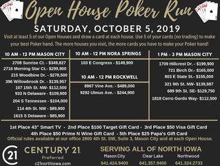 OPEN HOUSE Poker Run - Saturday, Oct. 5th