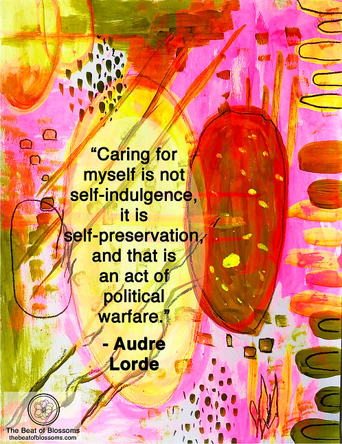 iPhone or Android Wallpaper | Audre Lorde Self-Care in Yellow