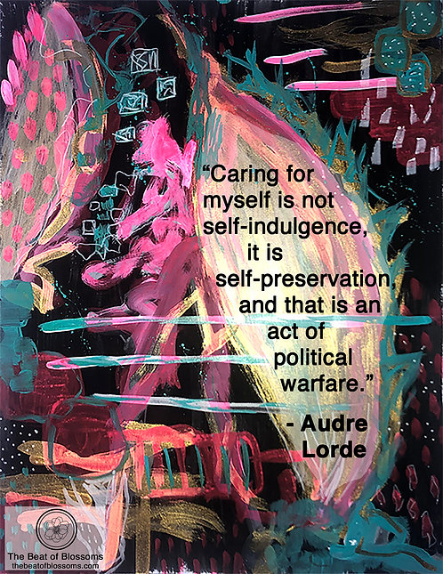 iPhone or Android Wallpaper | Audre Lorde Self-Care in Black