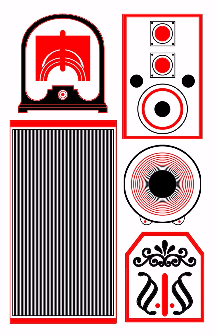 Multicolored Speakers