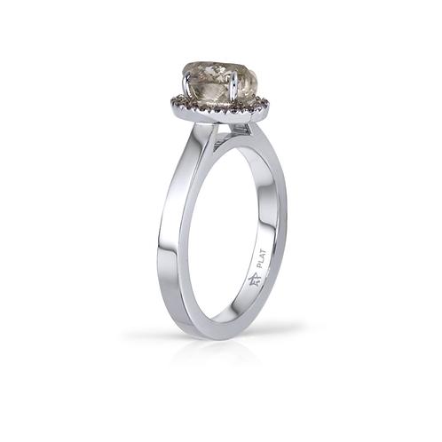Christine's Raw Diamond Halo Ring
