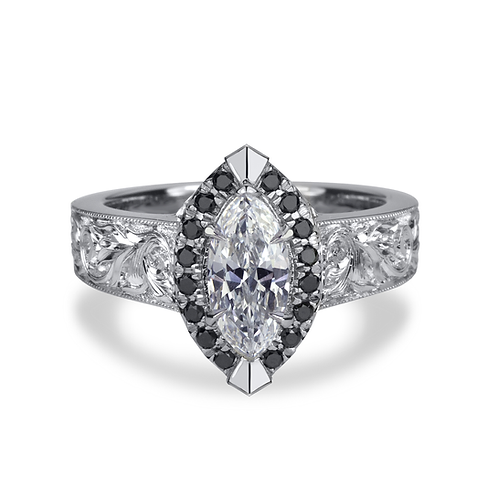 Christina's 'Ravenclaw' Marquise Diamond Engagment Ring