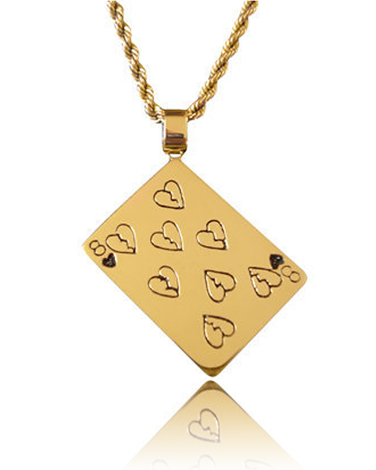 Eric's Crazy Eights & Heartbreaks Pendant