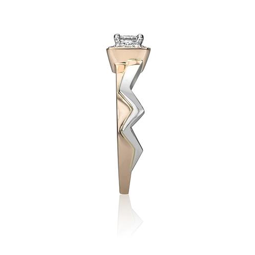 Mercedes' Princess Cut Halo Engagement Ring