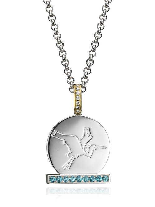Sasha's 2-in-1 Reversible Heron-Osprey Pendant
