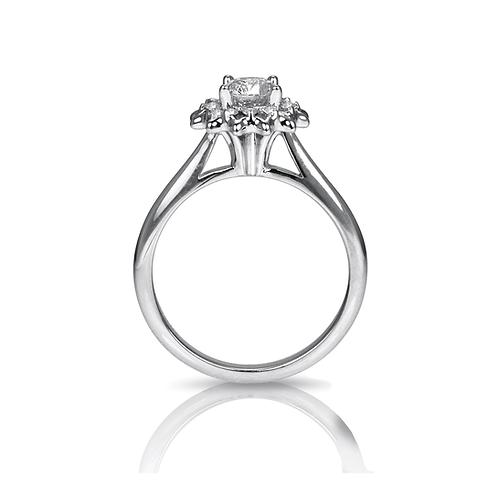 Jill's Diamond Dandelion Bouquet Engagement Ring
