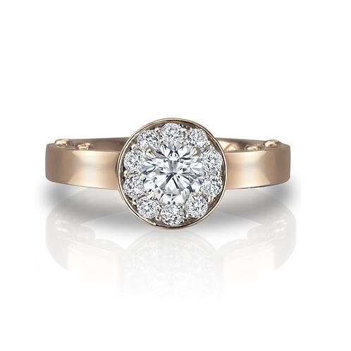 Sarah's Diamond Halo Engagement Ring