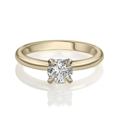 Mikala's Solitaire Diamond Engagement Ring