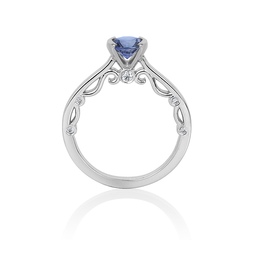 Rachel's Solitaire Sapphire Engagement Ring