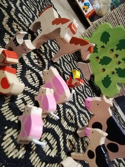 GOKI -  Animaux de la ferme, 12 pièces