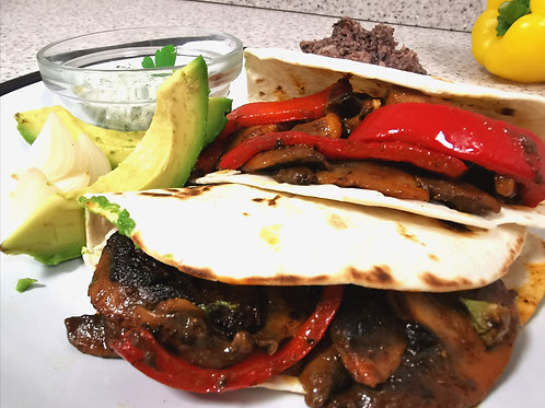 Vegan portobello tacos for 4