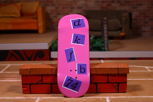 "DKfb Popsicle ""Letters Pink"""
